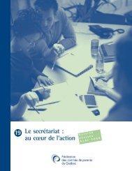19 Le secrétariat - Fédération des comités de parents du Québec