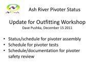 AR Pivoter Status December 2011.pdf - NOVA Document Database
