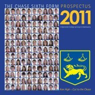 the chase sixth form prospectus - The Chase Technology College