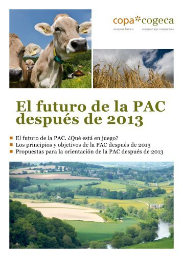 El futuro de la PAC después de 2013. COPA-COGECA. - Coag
