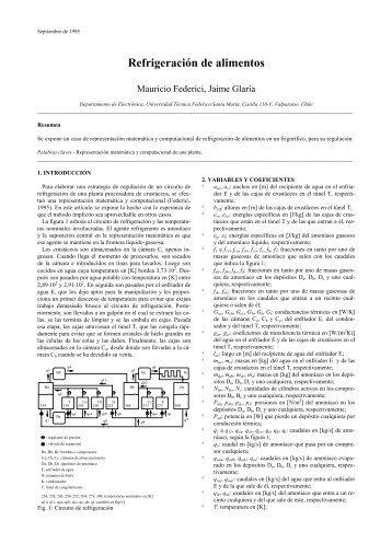 Refrigeración de alimentos - Universidad Técnica Federico Santa ...