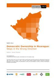 Democratic Ownership in Nicaragua: Steps in the ... - Alliance 2015