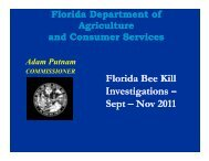 Florida Bee Kill Investigations Investigations Investigations – Sept ...