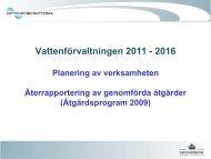 Vattenförvaltningen 2011 - 2016 - Vattenmyndigheterna