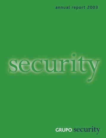 Grupo Security - Annual Report 2003 - Banco Security