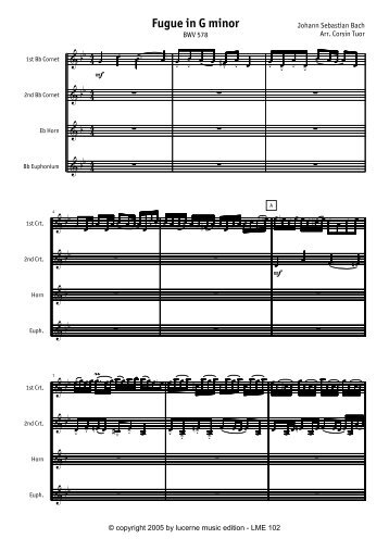 Fugue in G minor - Lucerne Music Edition