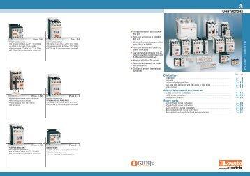 General catalogue 2009-10 - Contactors