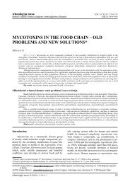mycotoxins in the food chain – old problems and new solutions