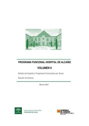programa funcional hospital de alcañiz volumen ii