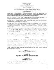 CAPITULO I PLANO DEL VALOR DEL SUELO SECCION I ...