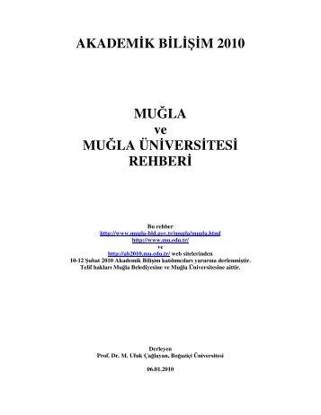 Muğla Rehberi - Akademik Bilişim Konferansları