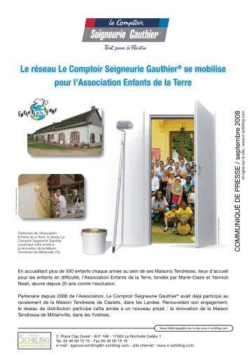 Le réseau Le Comptoir Seigneurie Gauthier® se mobilise pour l ...