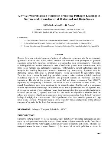 SWAT model as an approach to the spatial assessment of nutrient ...