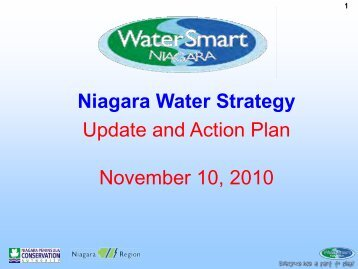Niagara Water Strategy Update and Action Plan November 10, 2010