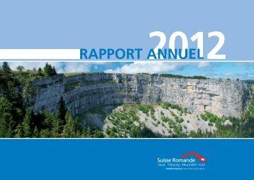 Rapport annuel 2012 ARH - Association Romande des Hôteliers