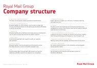 Company structure - myroyalmail