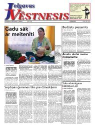 2008. gada 3. janvāris. Nr.1(33) - Jelgavas Vēstnesis