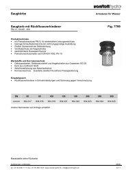 Saugkörbe Saugkorb mit Rückflussverhinderer Fig ... - vonRoll hydro