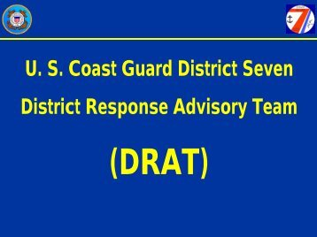 Seventh Coast Guard District - U.S. National Response Team (NRT)