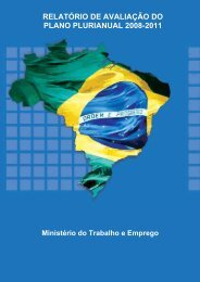 Avaliação do PPA 2008 - 2011 - Ministério do Trabalho e Emprego