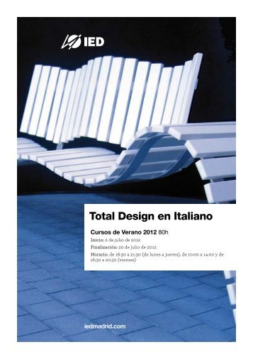 Total Design en Italiano - IED Madrid