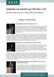 Südafrika am Scheideweg? 100 Jahre ANC - Konferenzbericht