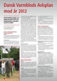 Dansk Varmblods Avlsplan mod år 2012
