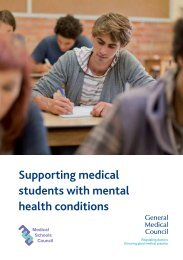 Supporting medical students with mental health conditions - General ...