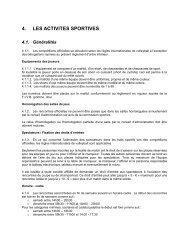 Chapitre 4 - Les activités sportives - Fédération luxembourgeoise de ...