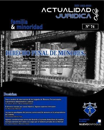 DERECHO PENAL DE MENORES. - Actualidad Jurídica