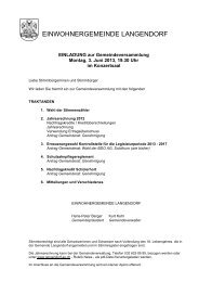 Einladung Rechnungs-Gemeindeversammlung 03.06 ... - Langendorf
