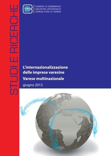 L'internazionalizzazione delle imprese varesine Varese ... - OsserVa