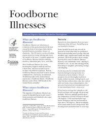 Foodborne Illnesses - National Digestive Diseases Information ...