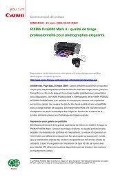 PDF, 312kB - Canon France