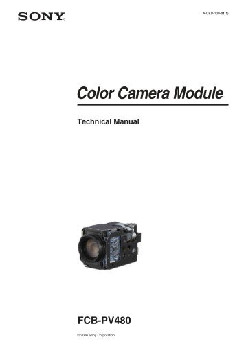 Color Camera Module FCB-PV480 - Sony