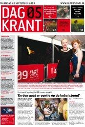 Dagkrant 5: 28 september 2009 - Nederlands Film Festival