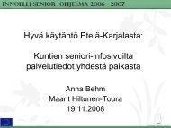 Hyvä käytäntö Etelä-Karjalasta Kuntien seniori-infosivuilta ... - Socom