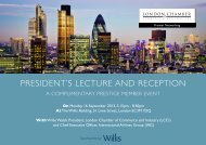 president's lecture And reception - London Chamber of Commerce ...