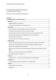 Protokoll Workshop IT Standards Agenda