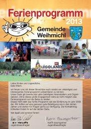 Ferienprogramm 2013 - Gemeinde Weihmichl