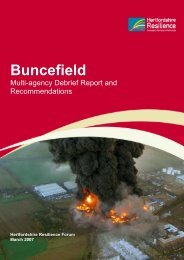 Buncefield: Multi-agency Debrief Report and Recommendations