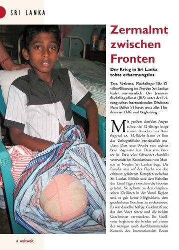 Flüchtlinge in Sri Lanka - Jesuitenmission