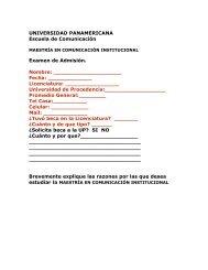 Examen de Admisión - Universidad Panamericana