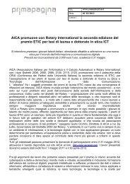 AICA promuove con Rotary International la seconda edizione del ...