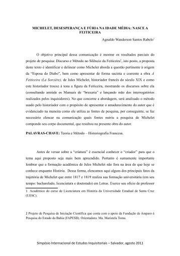 Agnaldo Wanderson Santos Rabelo - UFRB
