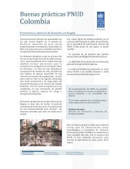 Good Practice UNDP Colombia Disaster Prevention and Assistance ...