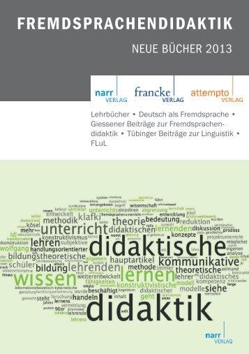 FREMDSPRACHENDIDAKTIK - Narr.de