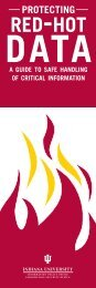 Red-Hot Data (2009) - Protect IU - Indiana University
