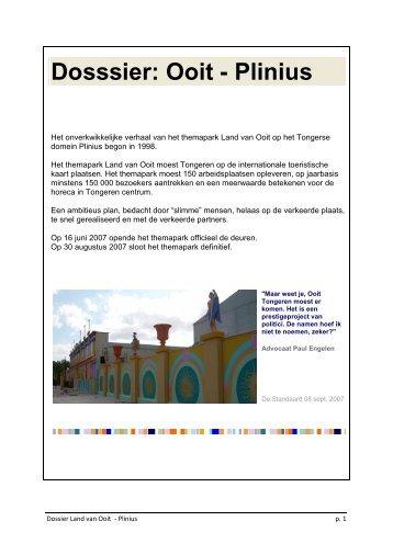 Dosssier: Ooit - Plinius - Tongeren - CD&V