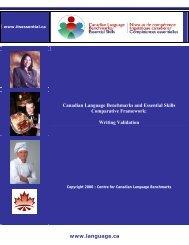 Informal report on writing validation - Canadian Language ...